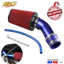 Universal 76mm and 240mm height Cold Air Intake cooling system Air Filter+3inch/76mm Aluminum car Air Intake Pipe Pipes Kit(China)