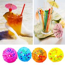 50pcs Color Random Umbrellas Fruit Toothpick Paper Cocktail Picks Drinks Picks Umbrellas Shape Drinks Decoration Party Supplies