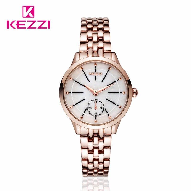 KEZZI  Brand Hot Sale Fashion Women Watch Gold Stainless Steel Wristwatch New Arrive Casual Luxury Relogios Feminino Fashion<br><br>Aliexpress