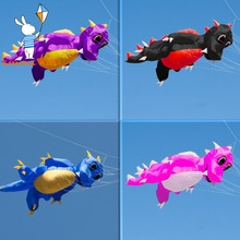 4.6m Inflatable Large Show Soft Kite Dragon Shape Line Laundry For Outdoor Activity(China)