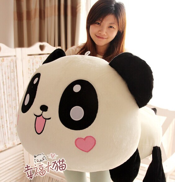 Pernycess  1pcs 70cm Lovely Lying down plush panda doll toys<br>