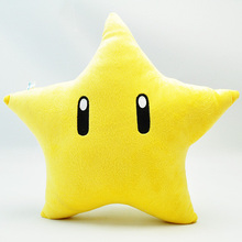 Super Mario Bros Plush Toys 26cm Yellow Power Star Pillow Soft Stuffed Plush Toys Doll Mario Cushion Children Toy Christmas Gift(China)