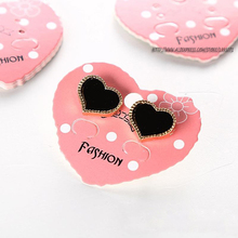 50pcs Fashion Paper DIY Jewelry Display Card Heard Earring Packaging Card Earring Stud Holder Organizer Card Showcase