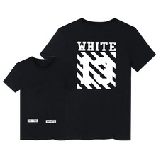 Hot Sale Brand Clothing Off White Men T Shirts Just Bieber Print Cotton Shirt Offwhite 7 Opere Pattern Women Tees ONE A CAKE