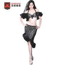 Oriental Dance Belly Dance Costume Suits Club Stage 3 Pics Bra&Skirt &Safety pants Encouraged Performance Costumes(China)