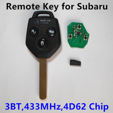 Car Remote Key 433MHz 4D62 Chip for Subaru Forester 2008-2013 Outback Legacy 2009-2014
