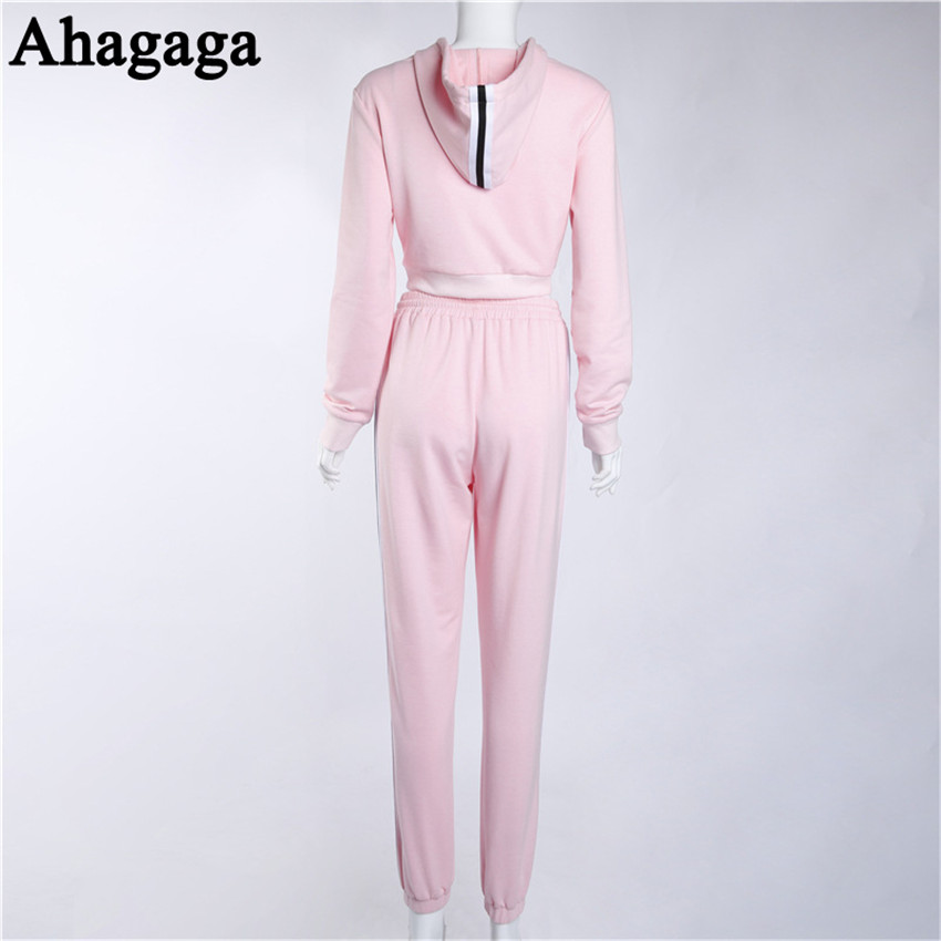 Women's Tracksuits Set, Casual Hooded Sweatsuit Set 38