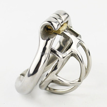 Buy 2017 Super Small Male Chastity Device Stainless Steel Chastity Cage arc-shaped Cock Ring Sex Toys Men Chastity Belt
