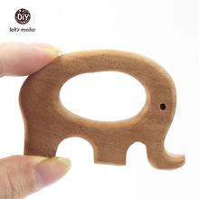 Buy Let's Make 10pcs Beech Wooden Elephant Pendant Baby Wooden Teether Ring Wooden Toy Hand Cut DIY Accessories Charms for $14.19 in AliExpress store