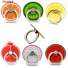 lovely fruit rotate 360 degrees Finger Ring all Mobile Phone Stand Holder anti-theft drop for iphone 6 samsung xiaomi MP3 tablet(China)