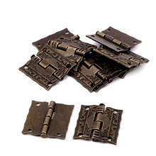 UXCELL Antique Style Case Jewelry Box Drawer Cabinet Butt Hinges Bronze Tone 10Pcs