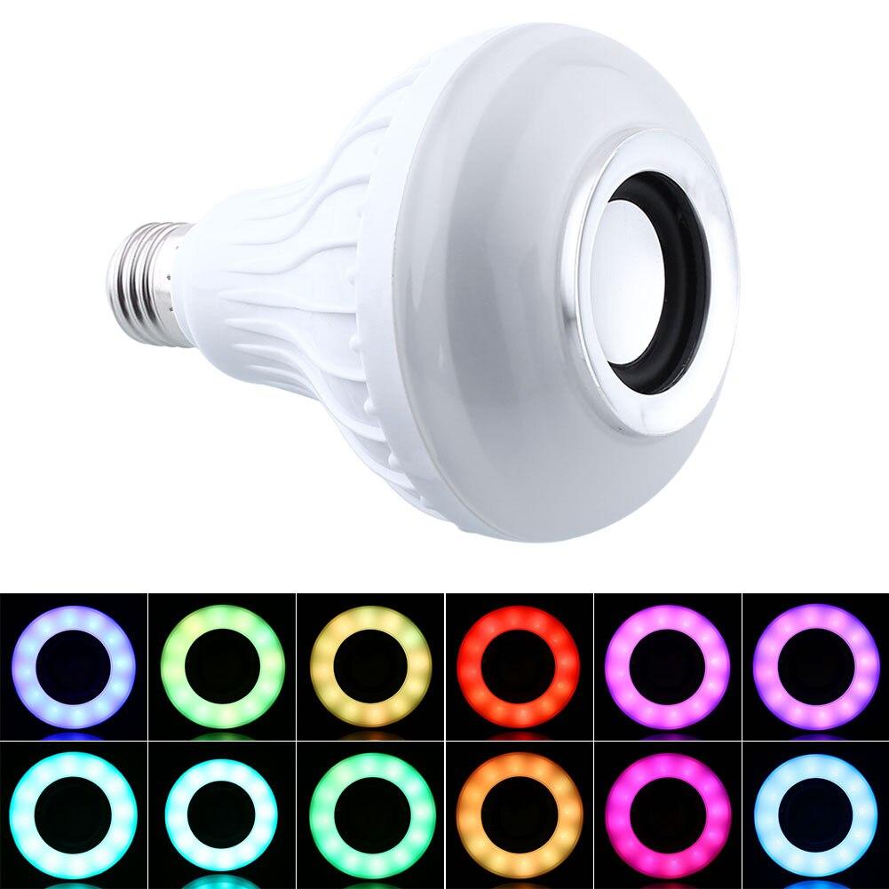 Wireless E27 Bluetooth Remote Control Mini Smart LED Audio Speaker RGB Color Warm White Bulb Music Lamp<br><br>Aliexpress