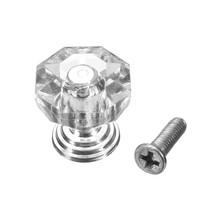 MTGATHER18mm Crystal Clear Crystal Glass Door Pull Drawer Cabinet Furniture Handle Knob Screw Hot Worldwide