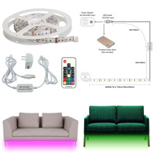 AIBOO Sofa Couch Bed Lights RGB LED Strips Illumination with Wireless RF Remote Control, Entrance, Closet, Staircase Lighting(China)