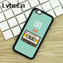 LvheCn TPU Phone Cases For iPhone 6 6S 7 8 Plus X 5 5S 5C SE 4 4S ipod touch 4 5 6 Cover cassete music inspirational quote(China)