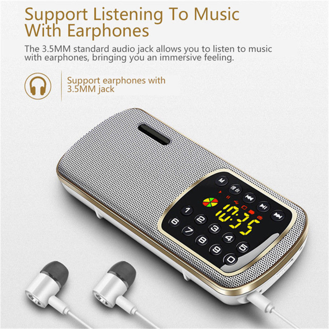 New Arrival 1pc Portable Stereo FM Radio High Quality FM Radio MP3 Player Mini Speaker With LED HD Display/Lighting Function