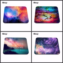 Luxury Printing Colorful beauty Spaces Galaxy World The Sun Non Slip Durable Rubber Mousepad for PC Optical Mouse(China)