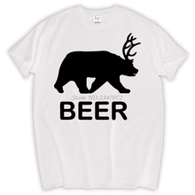 Beer bear funny animal design humor drunk drink college party vintage retro Mens T-shirt