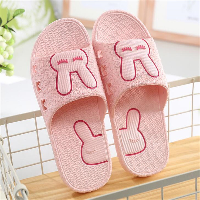 2017 Women Summer Sandals Slippers Beach Flip Flops Indoor Platform Slipplers Casual Shoes Rabbit Ladies Slides<br>