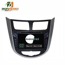 "7"" Quad Core 1024*600 Android 6.0 Car DVD GPS Player For  Solaris Verna Accent Car PC Headunit Car Radio Video Player Navigation"