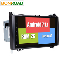 2Din Android 7.1.1 Car DVD Player GPS Navigation Head unit for B200 A B Class W169 W245 Viano Vito W639 Sprinter W906 Radio WIFI