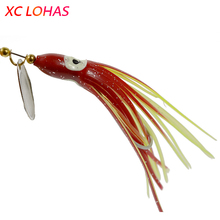 Buy 3 Pieces Big Eye Artificial Squid Lure Metal Spinner Spoon Fishing Lures Octopus Soft Lure Bait 7.5g Sea River Fishing SP026 for $2.49 in AliExpress store