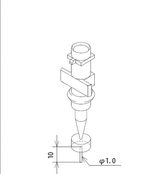 Smt Fuji IP3 Nozzles 1.0 pick up nozzle used in pick and place machine<br>