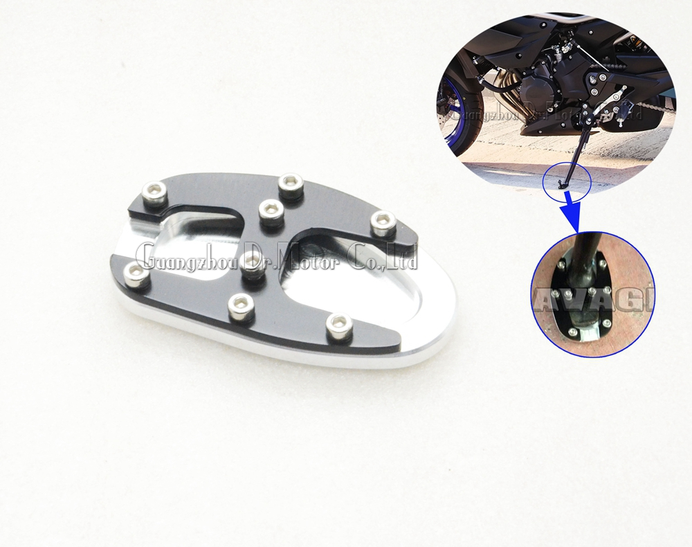 For YAMAHA FZ-6R XJ6 Diversion Motorcycle Accessories Side Kickstand Stand Extension Plate Parking base adapter<br><br>Aliexpress