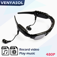 VENYASOL 480P MP3 Player Sunglasses Smart  Glasses Camera DV DVR Camcorder Cam Action Sport Driving Video Recorder