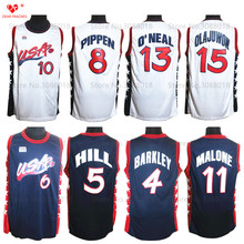 1996 Atalanta Usa Dream Team Usa Basketball Jersey Penny Hardaway Grant Hill Reggie Miller Charles Barkley Scottie Pippen Malone(China)