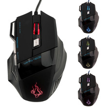 HOT SALE! Professional 1000DPI-5500 DPI 7 Buttons LED USB Optical Wired Gaming Mouse Mice computer mouse For Pro Gamer