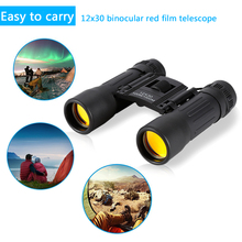 New12x30 Mini Binoculars Day and Light Telescope Long Range 100/1000m Professional Binocular Wide Vision Hunting Optics
