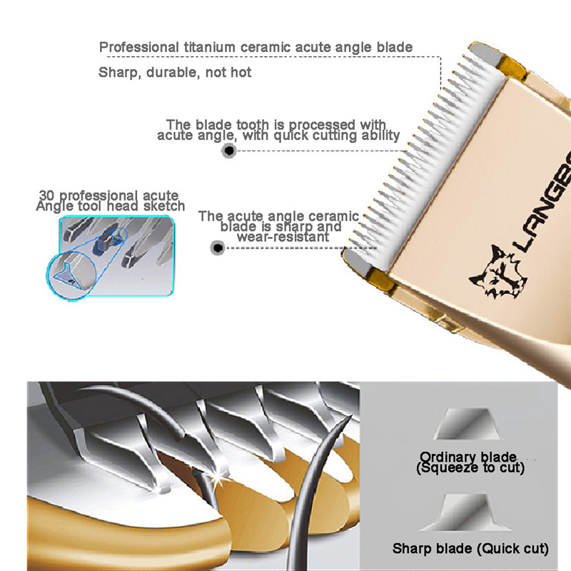 Professional Pet Grooming Set Dog Cat Nail Clippers Kit Rechargeable Pet Cat Dog Hair Trimmer Shaver Set Groomer Tool05