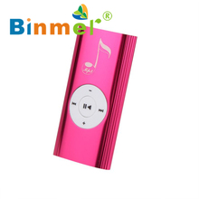 2017 Mini USB Clip Digital Mp3 Music Player Support 16GB SD TF Card Beautiful Gift Wholesale Price Hot_KXL0601