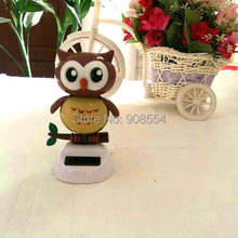 Retail Packing  Swing Under Full Light Solar Powered Energy Toys Novelty Home&Car Decoration Happy Dancing Solar Owl Style Doll