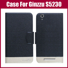 Hot Sale! Ginzzu S5230 Case New Arrival 5 Colors Fashion Flip Ultra-thin Leather Protective Cover For Ginzzu S5230 Case(China)