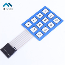 3x4 Matrix Array Membrane Switch Keypad 12 Key 4*3 4X3 Keyboard 3*4 Keys Display Switch Control Panel For DIY(China)