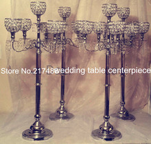 30 days sent order hotel supplies wedding crystal table decoration fountain  decor Candelabra Candle Holder wedding Centerpiece