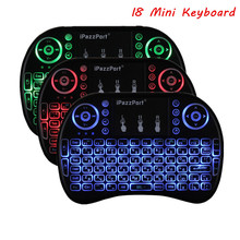 Mini Wireless Backlit Keyboard I8 2.4 GHz USB Touchpad Keyboard Air Mouse Remote Control For HD Device Android TV Box Tablet Pc