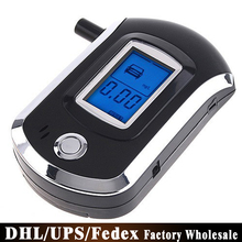 Free DHL Fedex 100PCS AT6000 Digital Professional Alcohol Tester LCD Display Breath Alcohol Meter Breathalyzer(China)