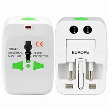 10PCS Universal World Wide Travel Power Plug Adapter Adaptor Wall Charger AC Power AU UK US EU Plug Converter Home Accessories(China)