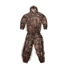New Leaf Camouflage Ghillie Suit Kids 3D Tactical Hunting Disguise Hide Paintball Training Suit Military Combat Clothes
