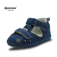 Apakowa Newborn PU Shoes Infants Boy Handmade Stitch Pu Shoes bebe Slip-on First Walkers Kids Footwear Toddler Baby Boy Shoes(China)
