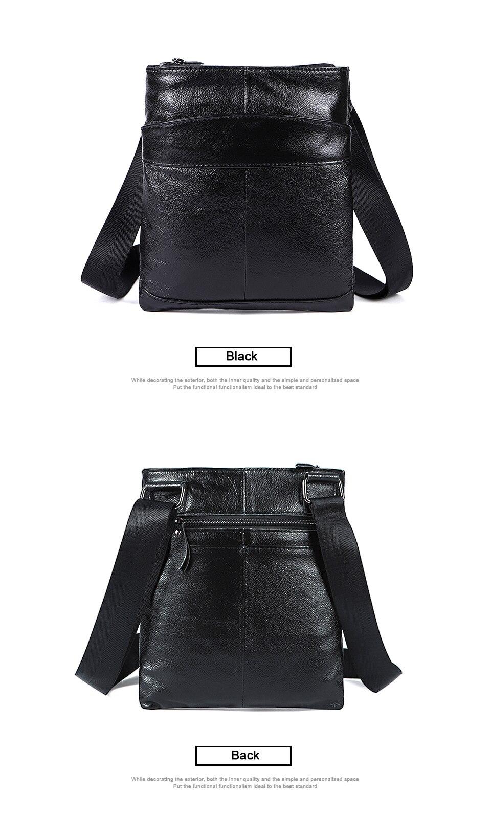 Genuine Leather Men Bag Men Messenger Bags Fashion ipad Flap Crossbody Bags Small Casual Men's Leather Shoulder Bag Man (6)