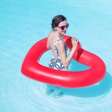 Lovely Pool Inflatable Toys 120*120CM Ring Heart Shape Pool Float Swimming Ring Toys Pool Float Buoy Heart For Adult Kids(China)