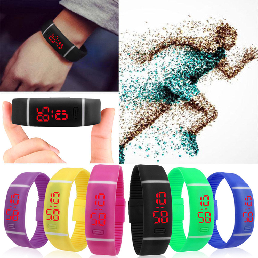 Cool Colorful  Red LED Running  Outdoor Sports Watch Date Rubber Bracelet Digital Wrist Watches For Men Mens Relogio Masculine  <br><br>Aliexpress