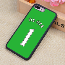 Popular David De Gea No 1 Style Printed Soft Rubber Phone Cases For iPhone 6 6S Plus 7 7 Plus 5 5S 5C SE 4 4S Back Cover Shell