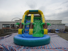Hot Sell High Quality PVC Commercial Inflatable Water Slide With Pool