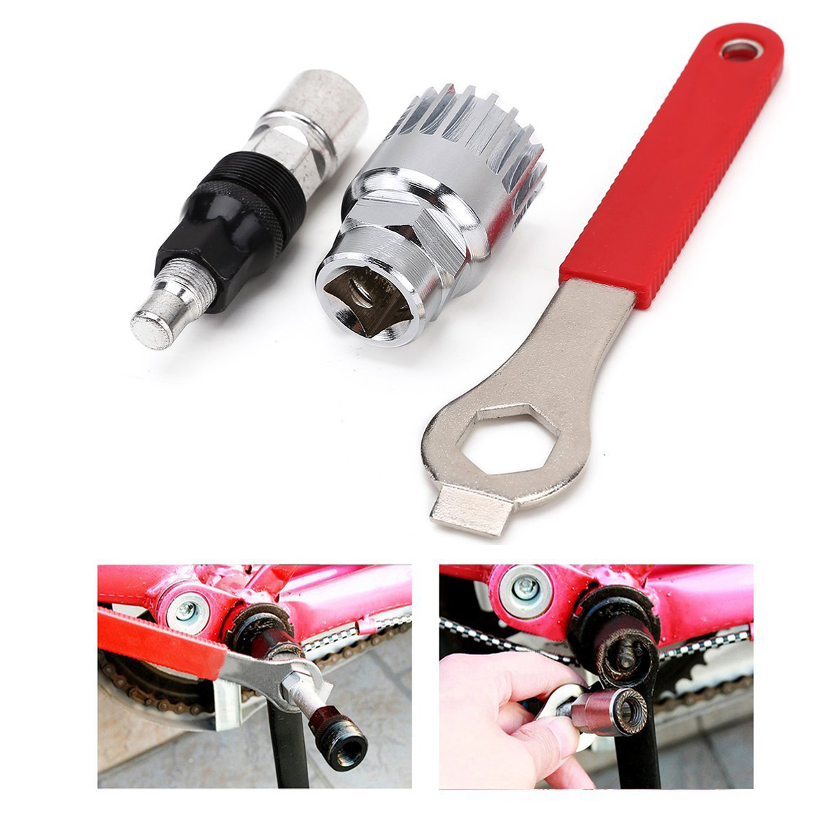 MTB Bike Bicycle Bottom Bracket Puller Crank Extractor Remover Removal Tool hot