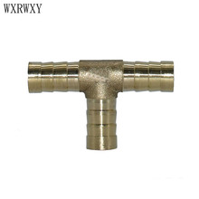 wxrwxy Brass 10mm Tee barb connector 8mm Tee air-valve barb tubing splitter Hose adapter Industrial hose adapter 5pcs(China)